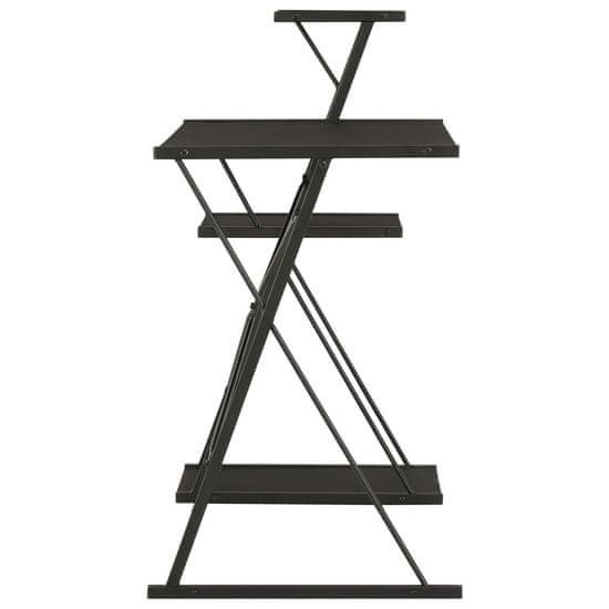 shumee Pisalna miza s polico črna 116x50x93 cm