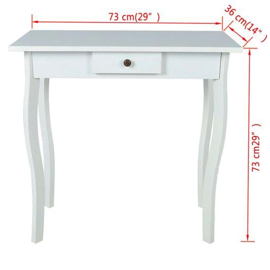 shumee  Konzolový stolík, MDF, biely