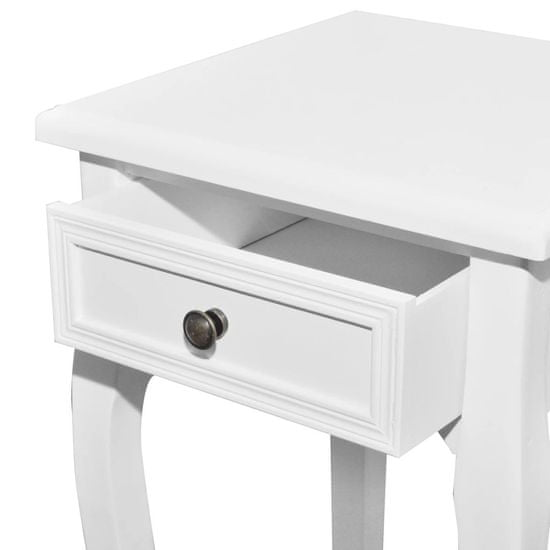 shumee Zestaw 2 wsuwanych pod siebie stolików z szufladą