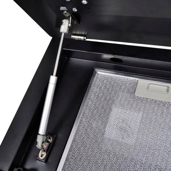 shumee Kuhinjska napa z zaslonom kaljeno steklo 600 mm črna