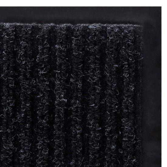 shumee Černá PVC rohožka 90 x 120 cm