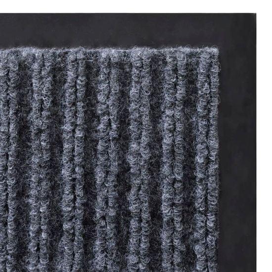 shumee Šedá PVC rohožka 90 x 120 cm