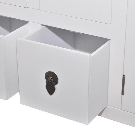 shumee 8 fiókos és 2 ajtós ázsiai stílusú fa tálalószekrény