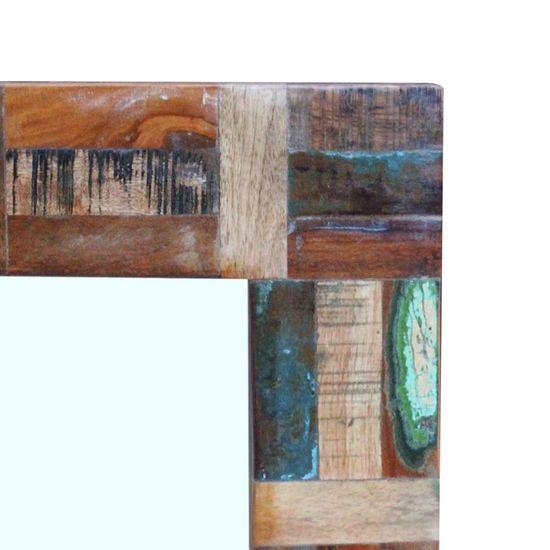 shumee Ogledalo iz trdnega predelanega lesa 80x50 cm