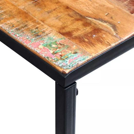 shumee Konzolna mizica trden predelan les 110x35x76 cm