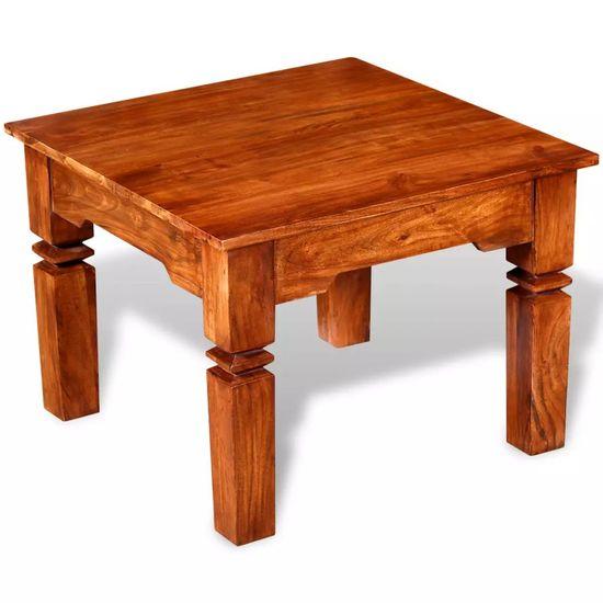 shumee Klubska mizica iz trdnega lesa 60x60x45 cm