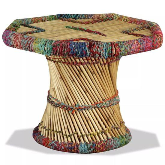 shumee Klubska mizica iz bambusa s Chindi detajli večbarvna
