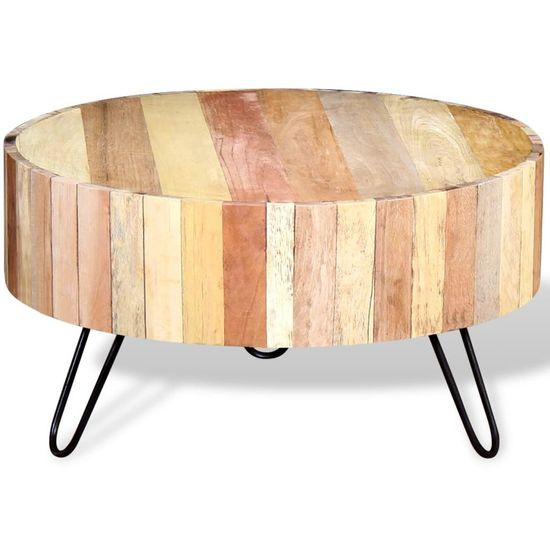shumee Klubska mizica iz trdnega predelanega lesa