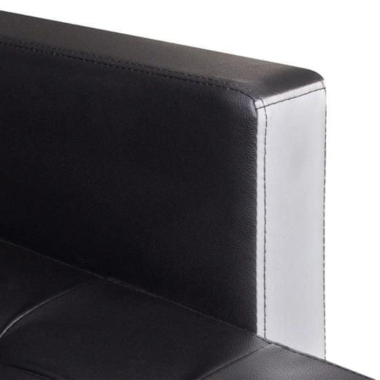 shumee fekete L-alakú műbőr kanapéágy