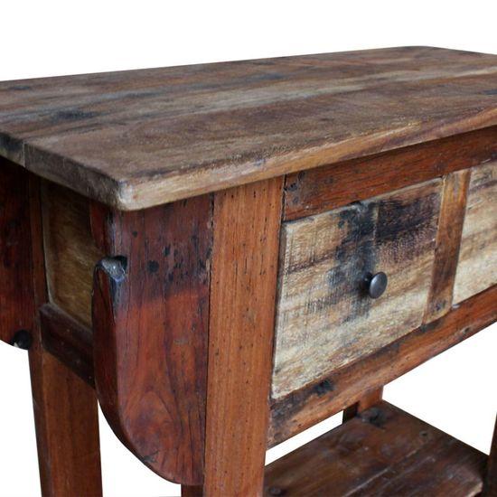 shumee tömör újrahasznosított fa tálalóasztal 80 x 35 x 80 cm