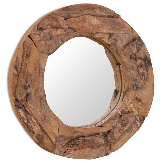 shumee Okrasno ogledalo tikovina 60 cm okrogle oblike