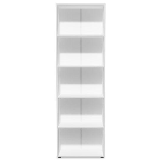 shumee Knjižna polica iverna plošča 60x31x190 cm bele barve