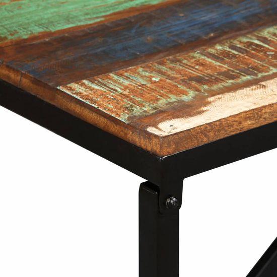 shumee Klop iz trdnega predelanega lesa 110x35x45 cm