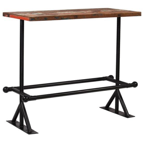 shumee többszínű tömör újrahasznosított fa bárasztal 120 x 60 x 107 cm