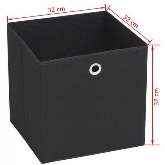 shumee Pudła do przechowywania z włókniny, 4 szt., 32x32x32 cm, czarne