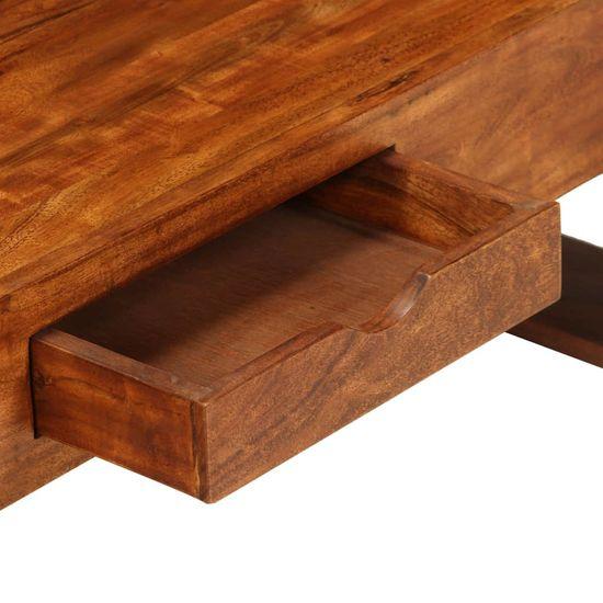 shumee Stolik kawowy z litego drewna akacjowego, 100x50x30 cm, brązowy