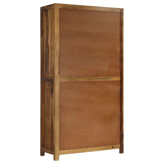 shumee Masivna lesena omarica Sheesham 90x40x175 cm
