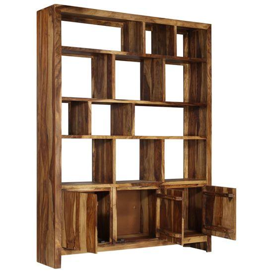 shumee Knjižna omara iz masivnega lesa Sheesham 150x35x200 cm