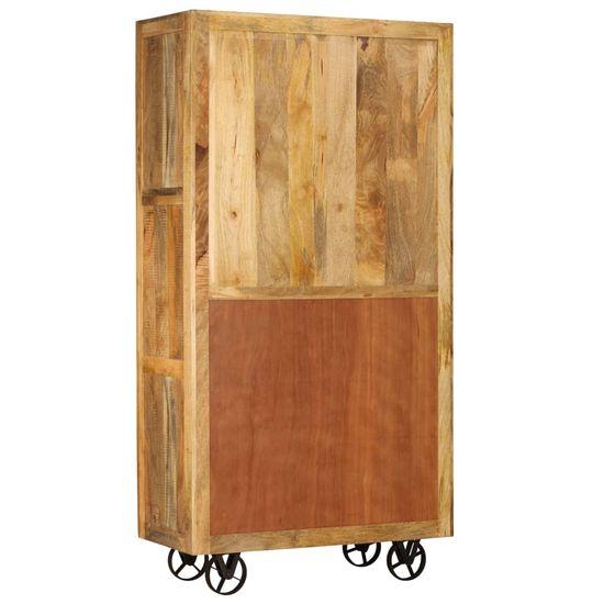 shumee kredenca iz masivnega lesa mango 95x45x185 cm