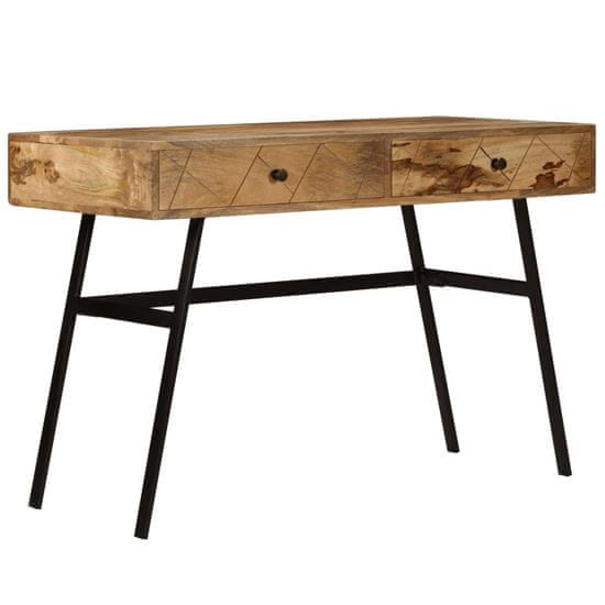 Greatstore Písací stôl so zásuvkami, mangový masív 110x50x76 cm