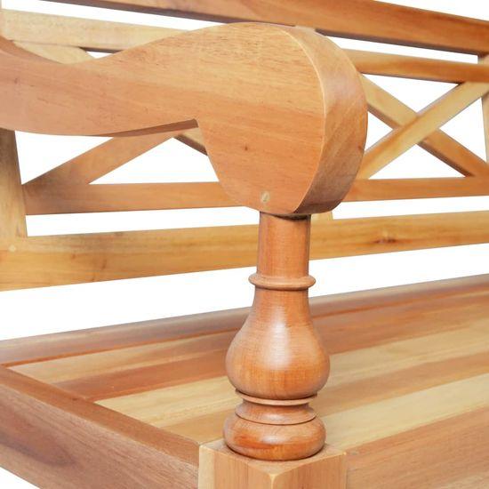 shumee Batavia klop 136 cm trden mahagonij svetlo rjava
