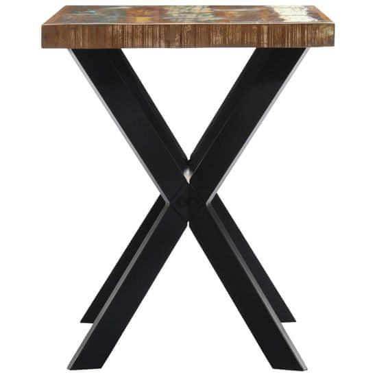 shumee tömör újrahasznosított fa étkezőasztal 120 x 60 x 75 cm
