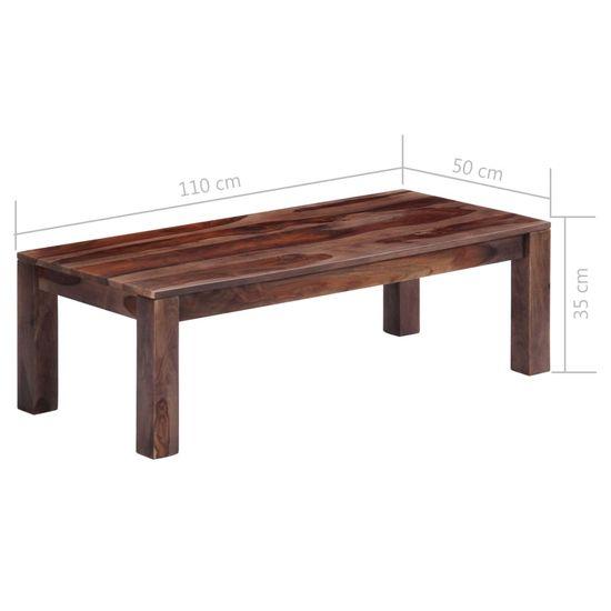 shumee Klubska mizica siva 110x50x35 cm trden palisander