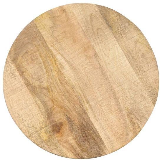 shumee Stranska mizica 45x(45-62) cm trden mangov les in lito železo