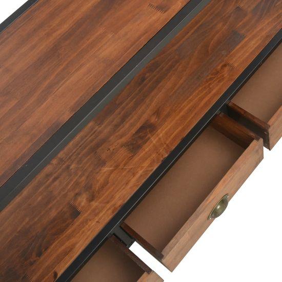 shumee TV omarica s 3 predali 120x30x60 cm trdna borovina