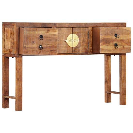 Greatstore Konzolna mizica 120x30x80 cm iz trdnega akacijevega lesa