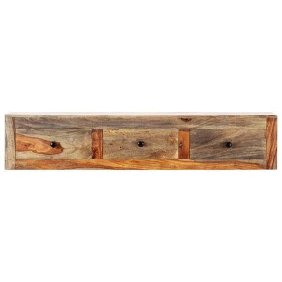 slomart Stenska konzolna mizica 100x25x20 cm trden palisander