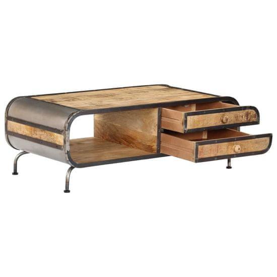 shumee tömör mangófa dohányzóasztal 100 x 50 x 35 cm