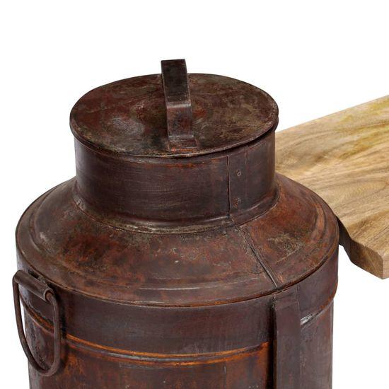 shumee Klop s kanglami za mleko 150x33x64 vm trden mangov les