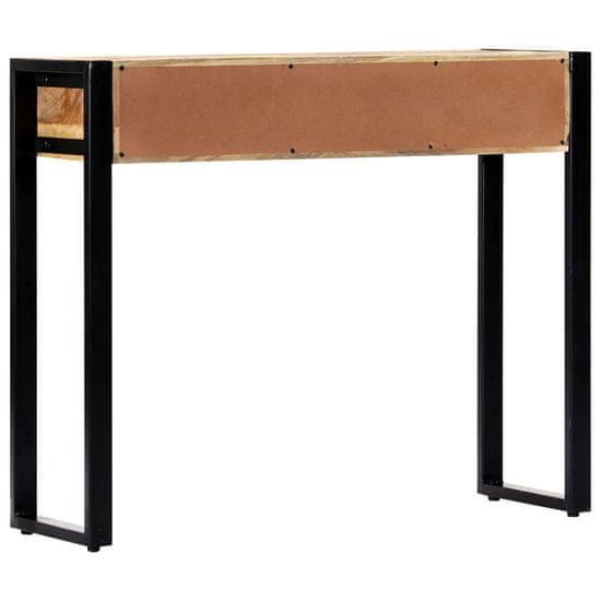 Greatstore Prístavný stolík 90x30x75 cm masívne mangovníkové drevo