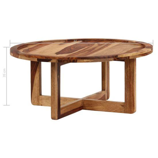 Greatstore Klubska mizica 80x35 cm iz trdnega palisandra