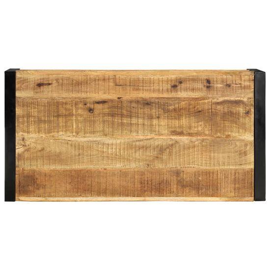shumee Klubska mizica 120x60x40 cm trden mangov les