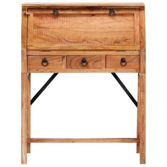 shumee Biurko, 90x40x107 cm, lite drewno akacjowe