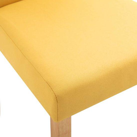 shumee Krzesła stołowe, 2 szt., żółte, tapicerowane tkaniną