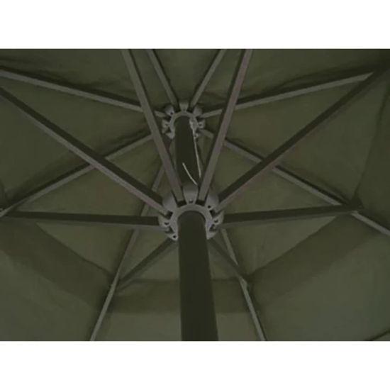 shumee Aluminijast senčnik zelene barve s prenosnim stojalom
