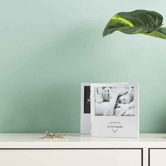 VonHaus foto okvir, otroški, za 3 slike, 12,7 x 8,9 cm, siv