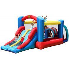 Happy Hop Fun park skákací hrad s překážkami a skluzavkou