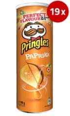 PRINGLES čips s papriko, 19 x 165 g