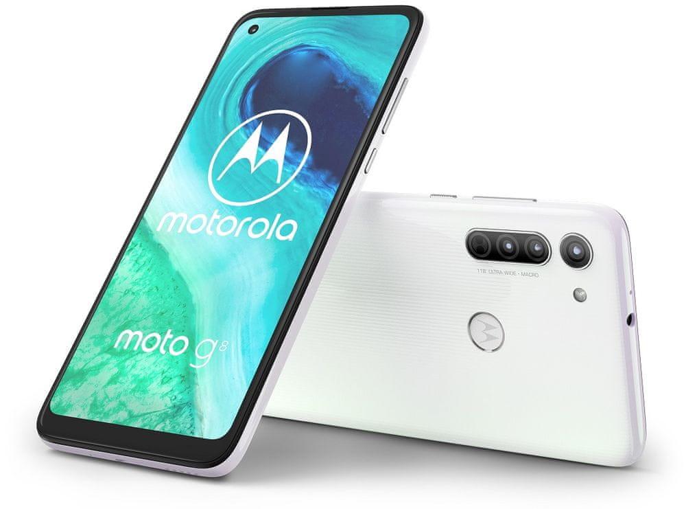 Motorola G8, 4GB/64GB, Pearl White - zánovní