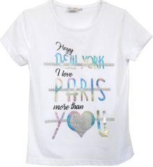 Topo dívčí triko 104, bílá