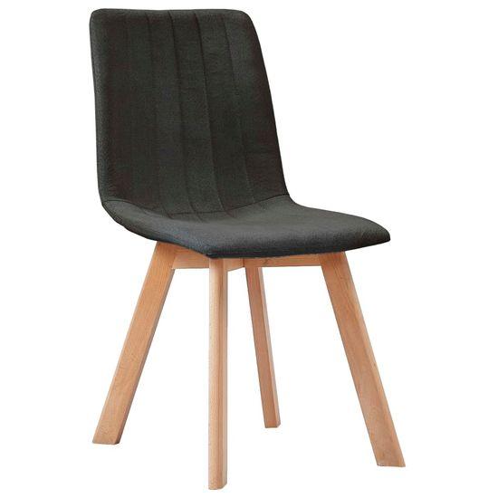 slomart Jedilni stoli 4 kosi temno sivo blago