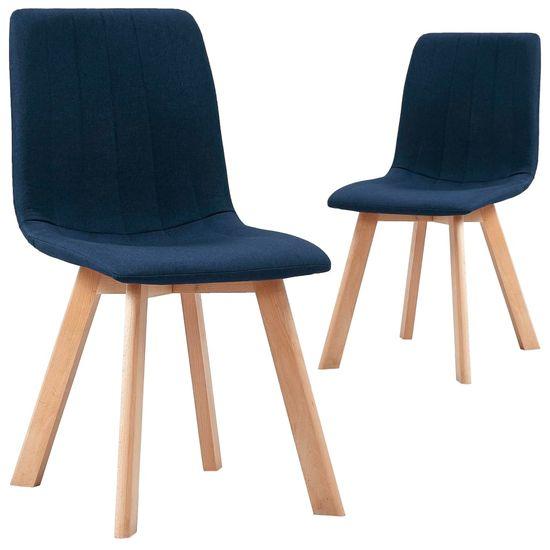 slomart Jedilni stoli 2 kosa modro blago