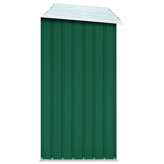 shumee zöld horganyzott acél kerti tűzifatároló 330 x 84 x 152 cm