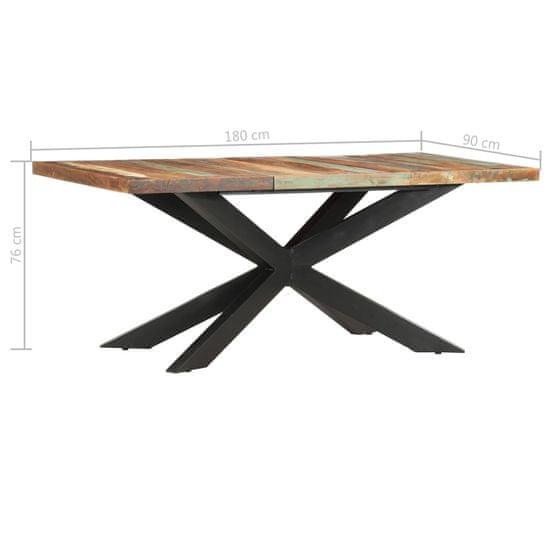 shumee tömör újrahasznosított fa étkezőasztal 180 x 90 x 76 cm