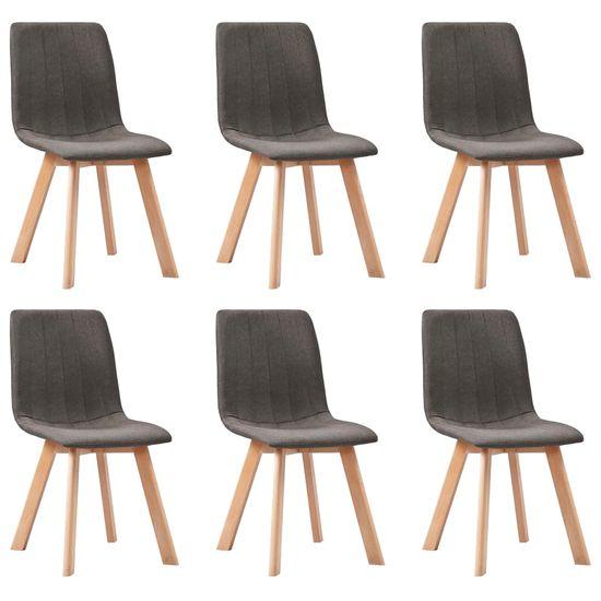 shumee Jedilni stoli 6 kosov taupe blago