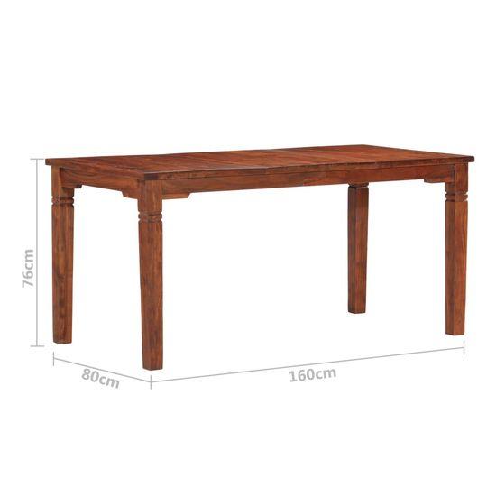 Greatstore Jedálenský stôl 160x80x76 cm masívne akáciové drevo